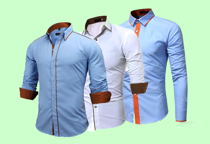 Arrivals Solid Long Sleeve Men Shirts