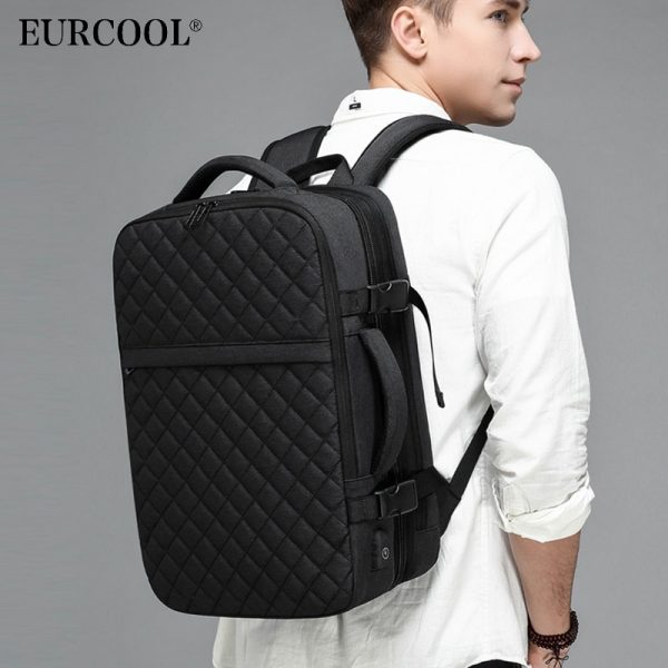 NEW Travel Backpack Men Expandable Laptop Backpacks