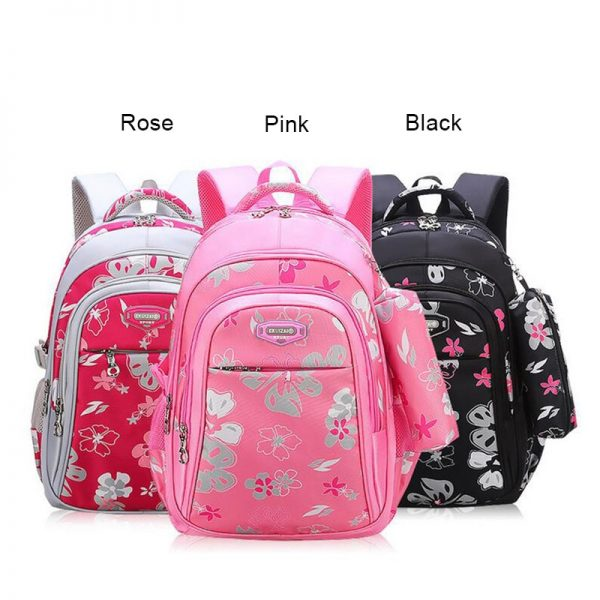 Girls Floral School Backpacks children school bags