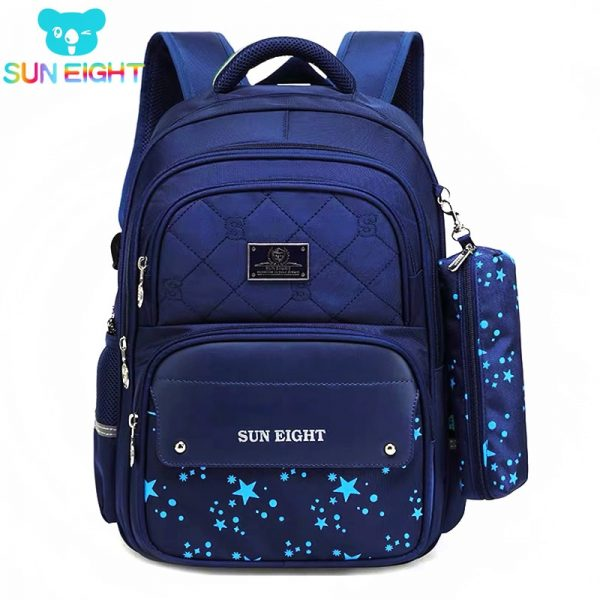 Zippers Large Capacity Boy School Backpacks