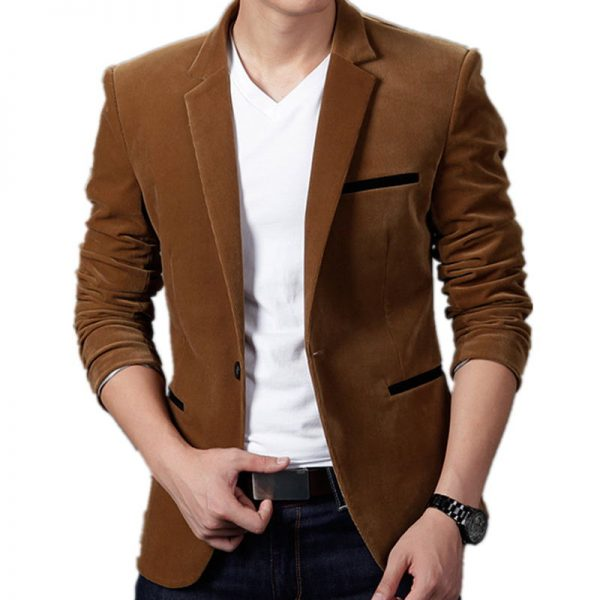 Mens Fashion Brand Blazer Style Casual Fit Suit Jacket