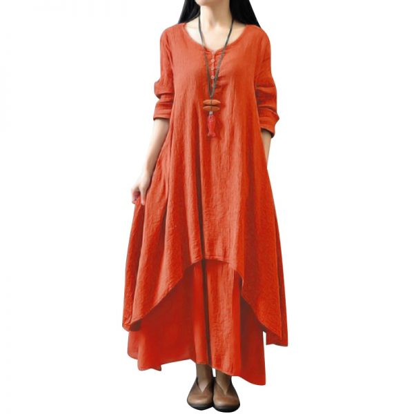 Fashion Women Casual Loose Dress Long Maxi Dress