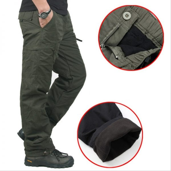 Men Thick Pants Double Layer Camouflage Cotton Brand