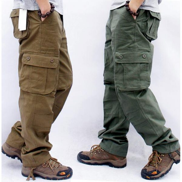 Cargo Mens Pants Casual Multi Pockets Tactical Pants