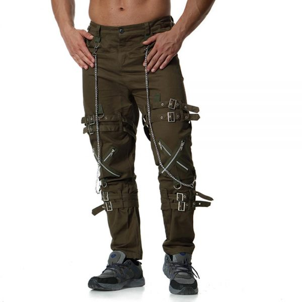 New fashion hip hop joggers punk rock cargo Men's pants