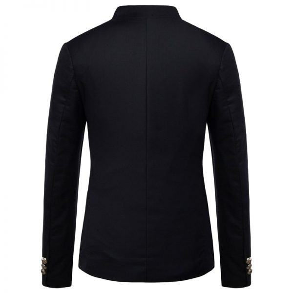 Mens blazer Slim fit men suit jacket coat Black