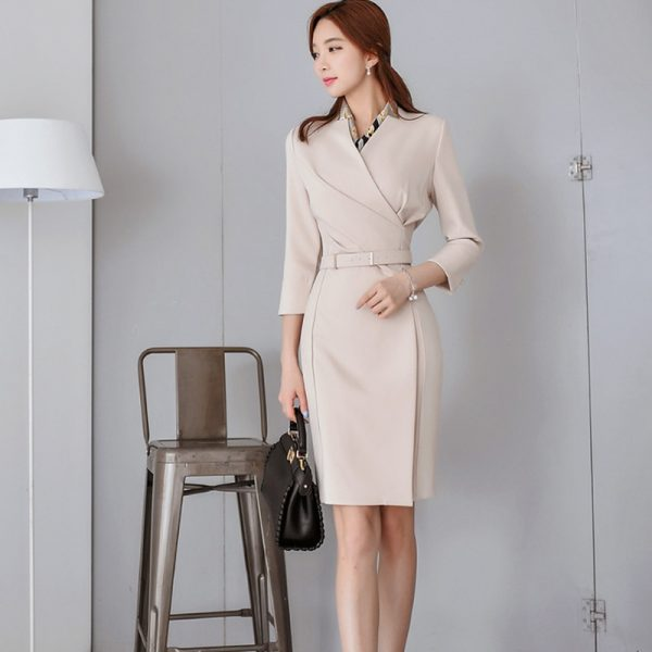 fashion casual office dress women runway dresses