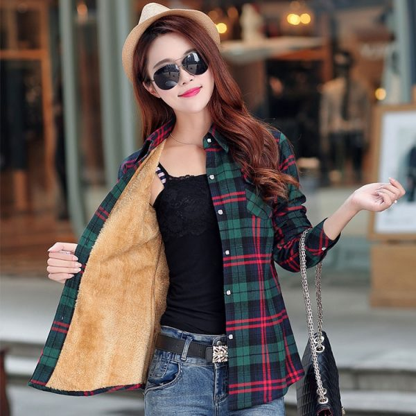 New Winter Warm Women Velvet Thicker Jacket Style Coat