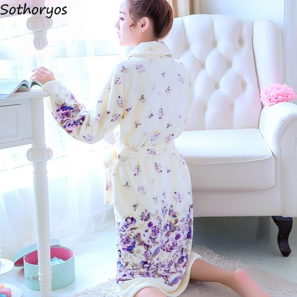Robes Women Long Flower Wedding Gown Nightwear