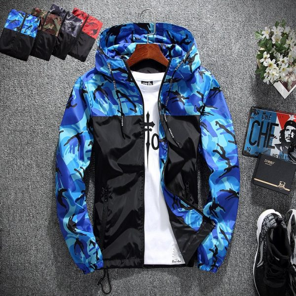Men's wear casual camouflage jacket spring