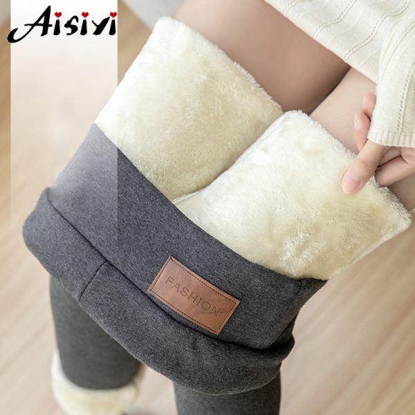 Warm Winter Leggings Women Waisted Winter Pants