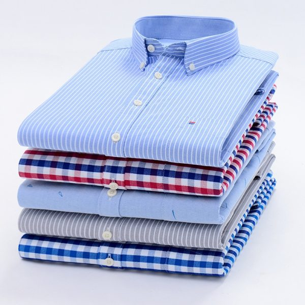 100% COTTON New OXFORD FABRIC Men casual shirts