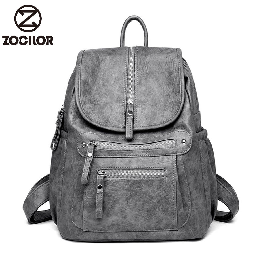 Women Backpack Leather school Backpacks