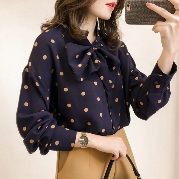 Fashion Women Blouses Long Sleeve Shirt