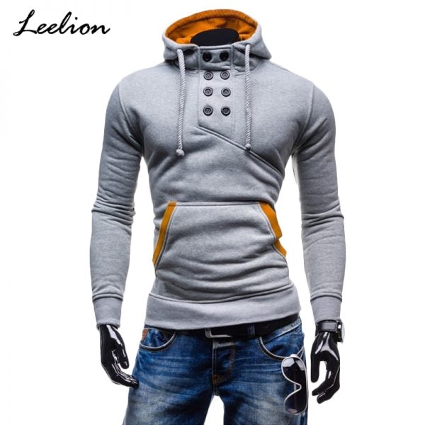 Men Cotton Sportswear Slim Button Pullover