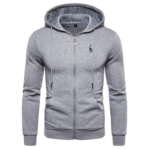 Cotton Mens Hoodied Sweatshirts Men Zipper Sweatshirts