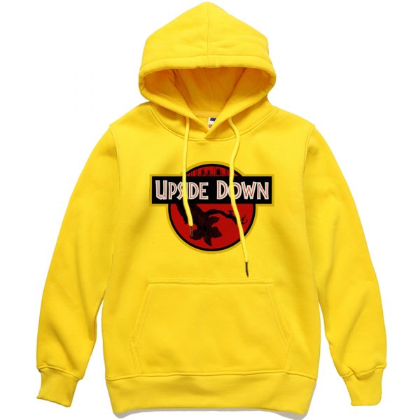 Men Autumn Winter Upside Down Hooded Sweatshirt