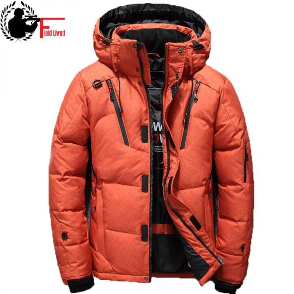 Winter Jacket Men Hat Warm Coat