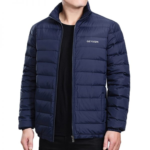 Mens Winter Jacket Coat White Duck Down Light Jacket