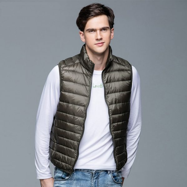 New Men's Winter Coat Duck Down Vest Portable Jacket