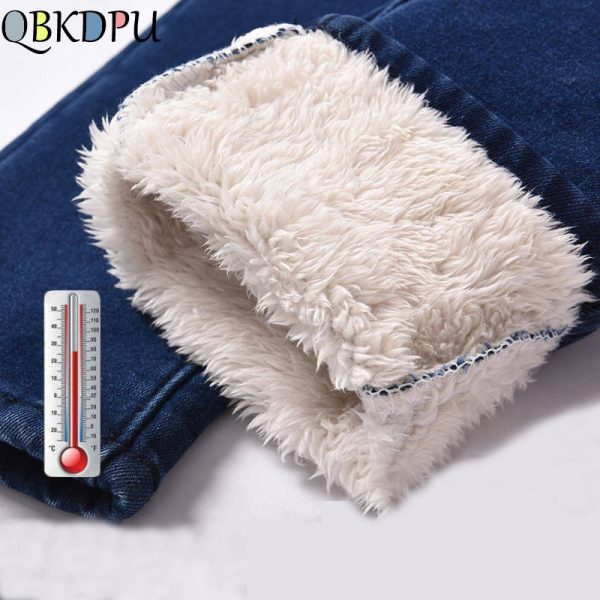 Winter Jeans Women High Waist Skinny Thick Trousers