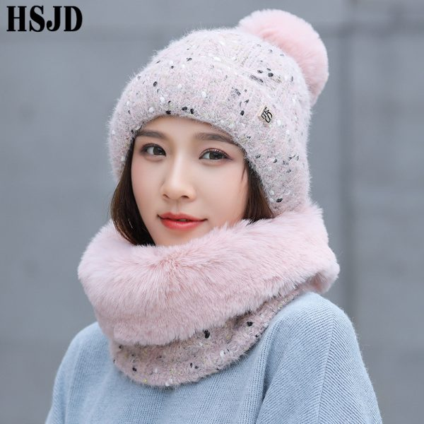 Sweet lovely Snowflake Dots Knitted Hat