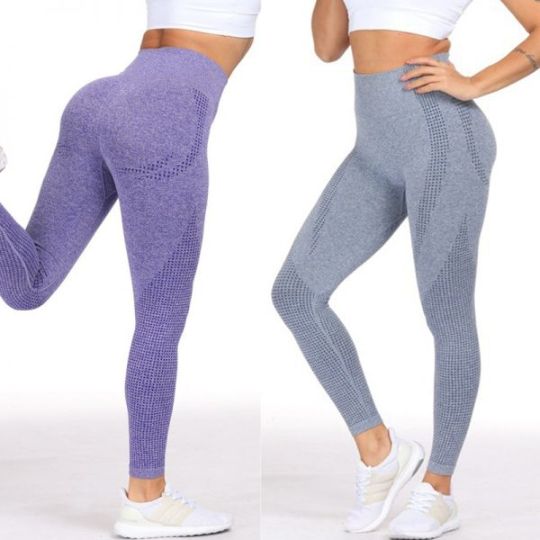 Women Purple Seamless Leggings yoga pants
