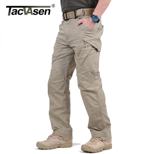 Men's Stretch Tactical Pants Multiple Pocket