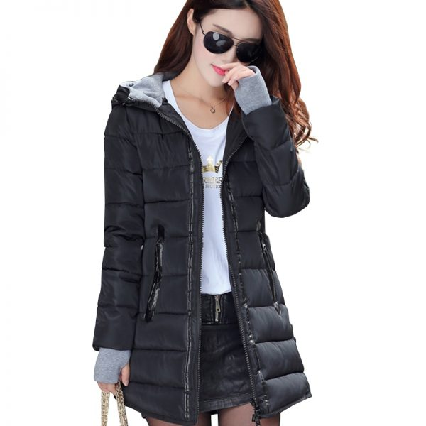 women hooded candy color