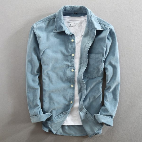 Men Autumn Fashion Vintage Shirt
