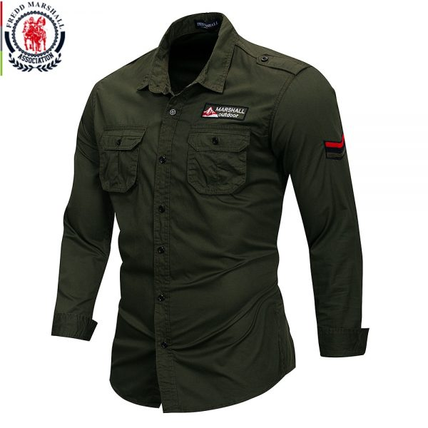 Marshall Cotton Military Men Shirt