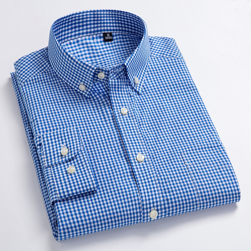 New Arrival Men's Oxford Wash and Wear Plaid Shirts
