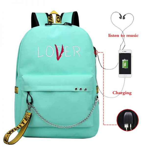 Lover Loser Backpack Large School Bags