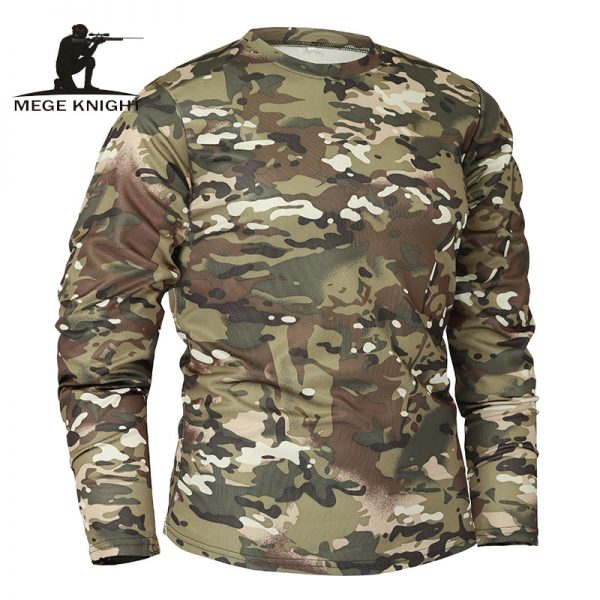 Mege Spring Men Long Sleeve T-shirt