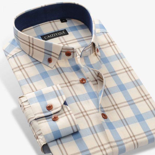 Cotton Sleeve Contrast Casual Shirt