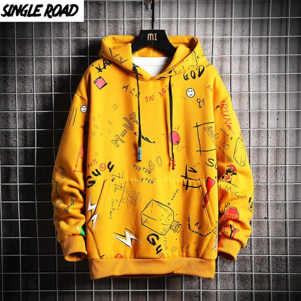 Men's Winter Hoodies Sweatshirt Japanese Streetwear