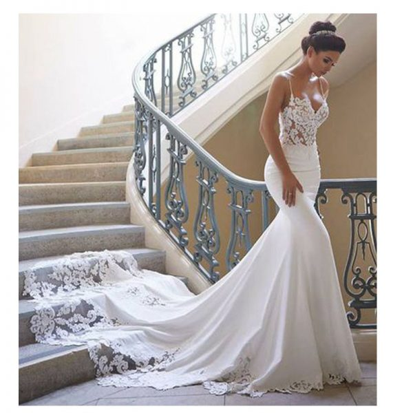 Mermaid Wedding Gown Backless Wedding Dress