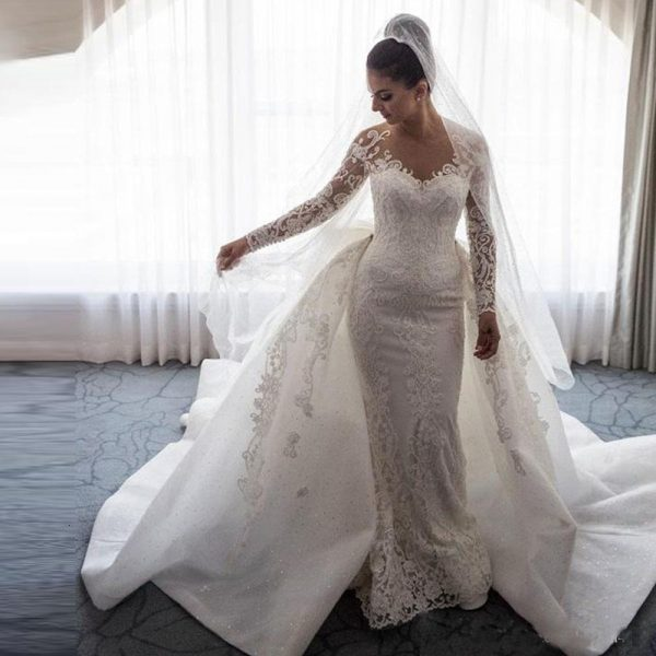 Wedding Dresses Neck Long Dresses