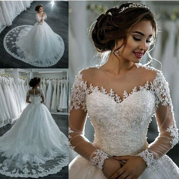 Vestidos Long Sleeve Wedding Dress