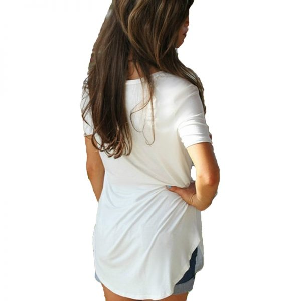 Summer V Neck Women's Shirt T-shirt