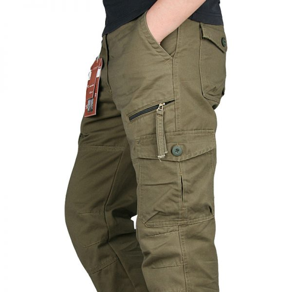 Cargo Black Cotton Autumn Cargo Pants