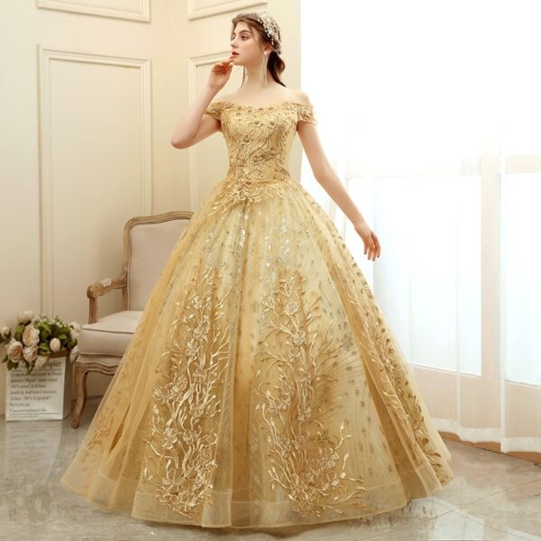 New Luxury Party Prom Vintage Gown Dress