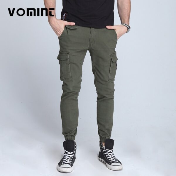 New Elastic Skinny Pants military Cargo Pants
