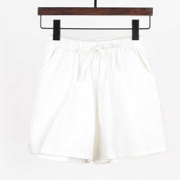 100 % cotton Summer new loose-fitting linen Shorts