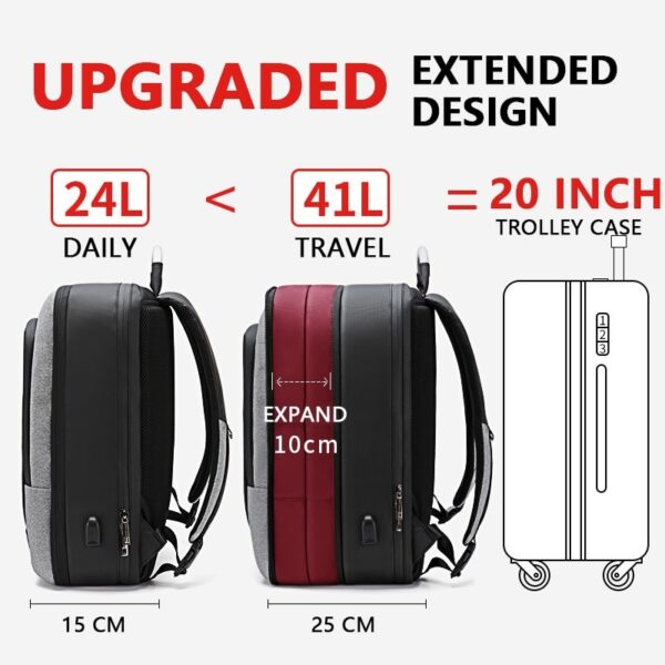 Large Capacity Men's Expandable Backpack