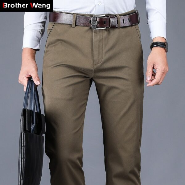 Cotton Casual Pants Loose Waist Elastic Pants