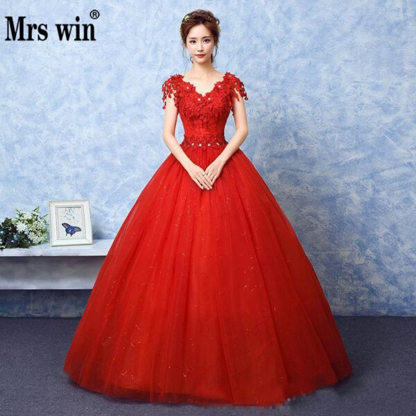 V-neck Ball Gown Vintage2020 Wedding Dress