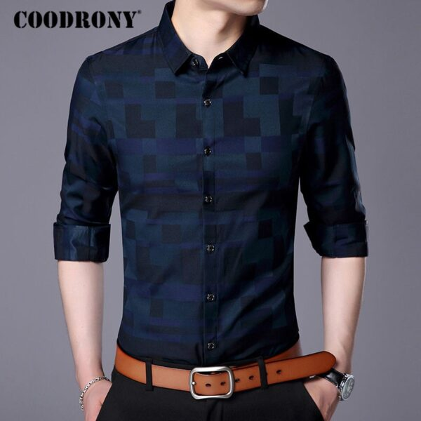 Mens Business Brand Famous Casual Shirts