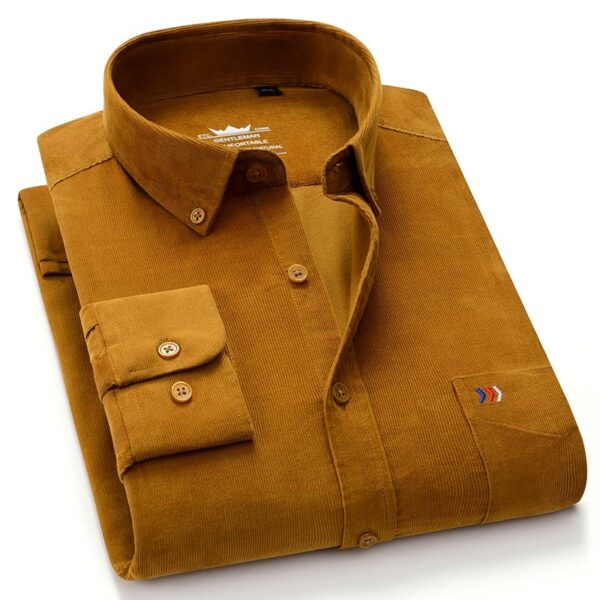 Man's Corduroy Cotton Sleeved Shirt