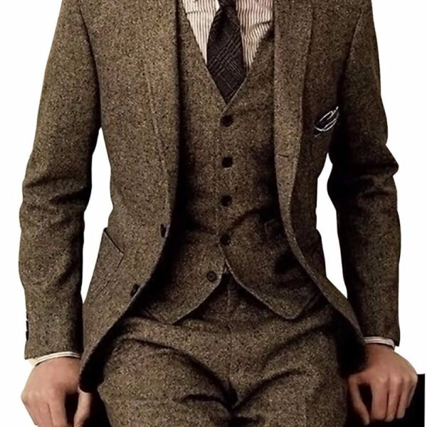 Men's Wedding Vintage 3 Pieces Suit